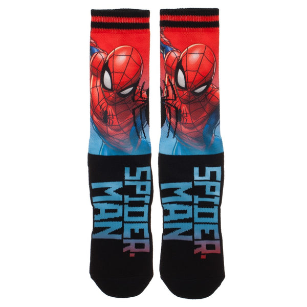 Marvel Spiderman Sublimated Over Knit Crew Men's Socks