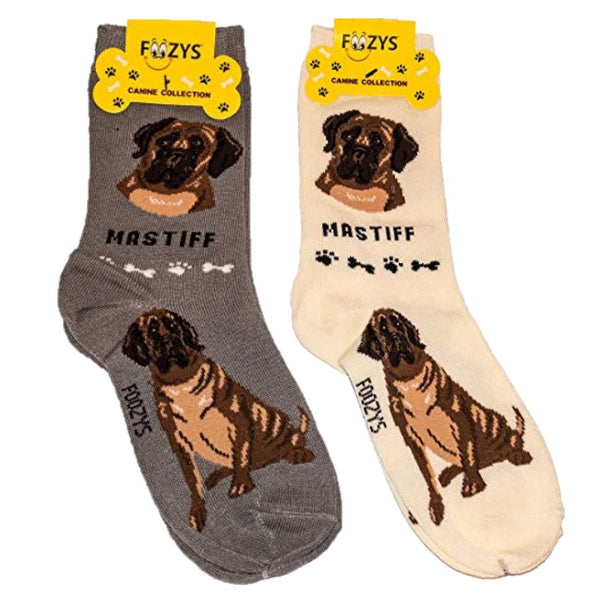 Mastiff Foozys Canine Dog Crew Socks
