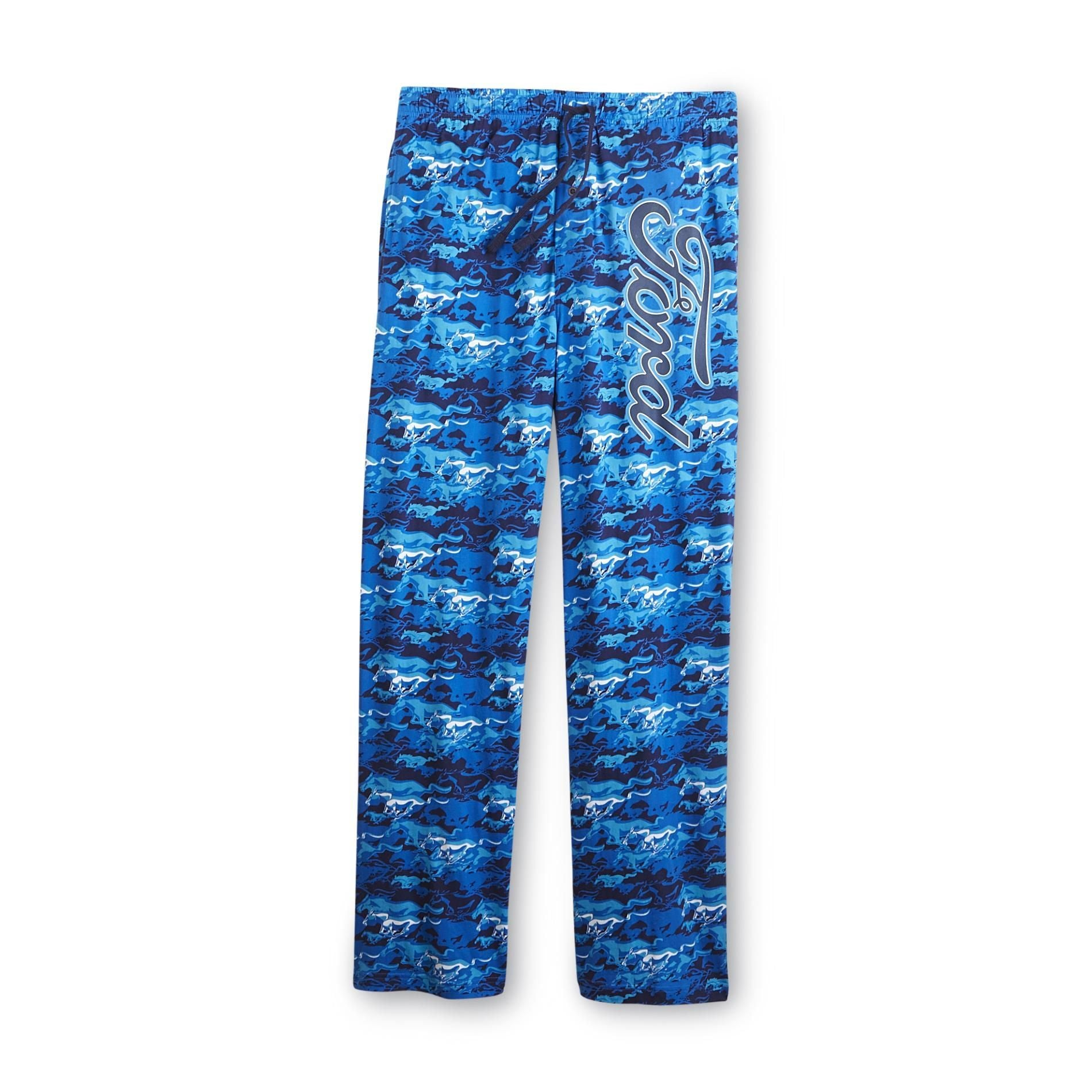 Ford Blue Camo Men's Lounge Sleep Pajama Pants