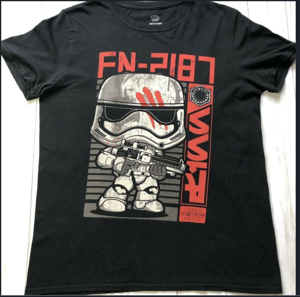 Mens Funko Pop! Tees Exclusive Star Wars FN-2187 Graphic T-Shirt