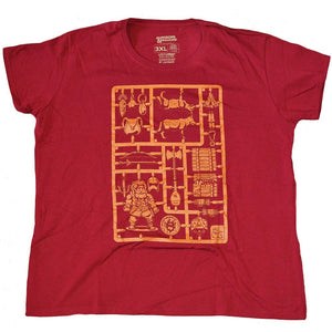Mens Red Loot Crate Exclusive Dungeons & Dragons Sprue Tee T-Shirt