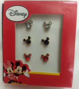 Disney Mickey Mouse Ears Set of 3 Earrings