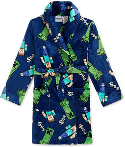 Minecraft Boys Pajama Robe Bathrobe