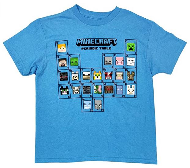 Minecraft Periodic Table Boys T-Shirt Tee
