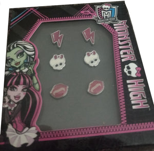 Monster High Set of 3 Earrings