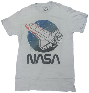 NASA Shuttle Moon Mens T-Shirt
