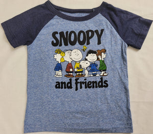 Snoopy and Friends Peanuts Boys T-Shirt (Blue)