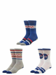 NASA Buzz Aldrin's Share Space Foundation Athletic Crew Socks (Pack of 3)