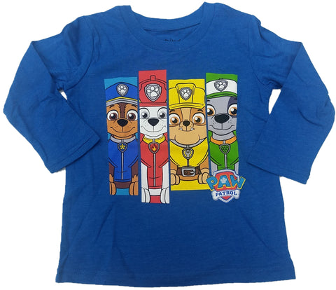 Nick Jr Paw Patrol Nickelodeon Boys Long Sleeve T-Shirt (Blue)