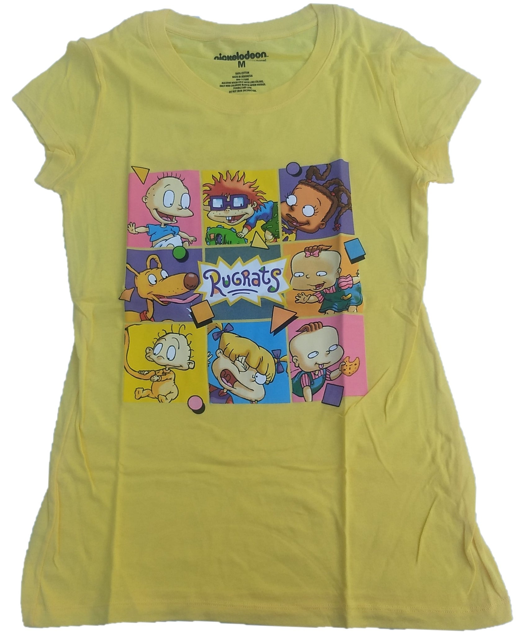 Nickelodeon Rugrats Cast of Characters Juniors T-Shirt (Yellow)