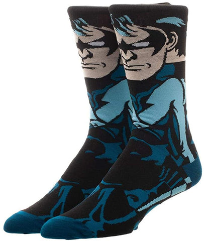 Nightwing Batman Justice League 360° Degree Character Crew Socks