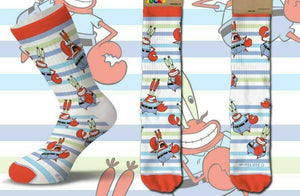 Spongebob Mr. Krabs Nickelodeon Men's Crew COOL SOCKS