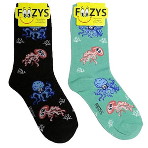 Octopus & Squid Foozys Womens Crew Socks