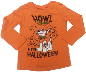 Paw Patrol Howl For Halloween Nick Jr. Long Sleeve T-Shirt (Orange)