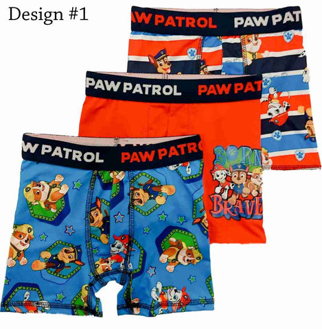 Paw Patrol Boxer Briefs Boys 3 Pack Action Underwear