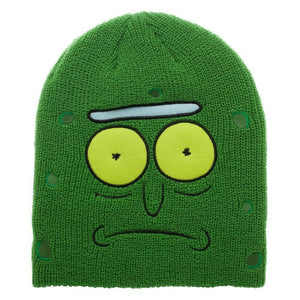 ADULT SWIM RICK AND MORTY PICKLE RICK BIG FACE BEANIE HAT KNIT SKI CAP WINTER