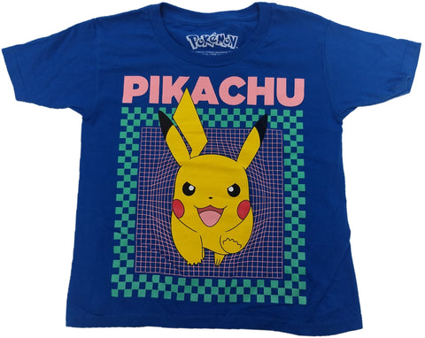 Pikachu Pokemon Boys Blue T-Shirt