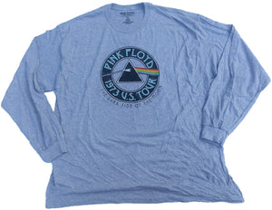 Pink Floyd 1973 U.S. Tour The Dark Side of the Moon Long Sleeve T-Shirt (Grey)