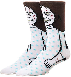 Posessed Regan Exorcist 360° Degree Character Crew Socks