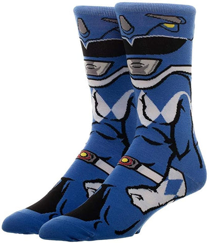 Power Rangers Blue Ranger 360 Character Crew Sock