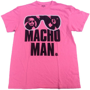 Randy Macho Man Savage WWE Wrestling Mens T-Shirt (Pink)