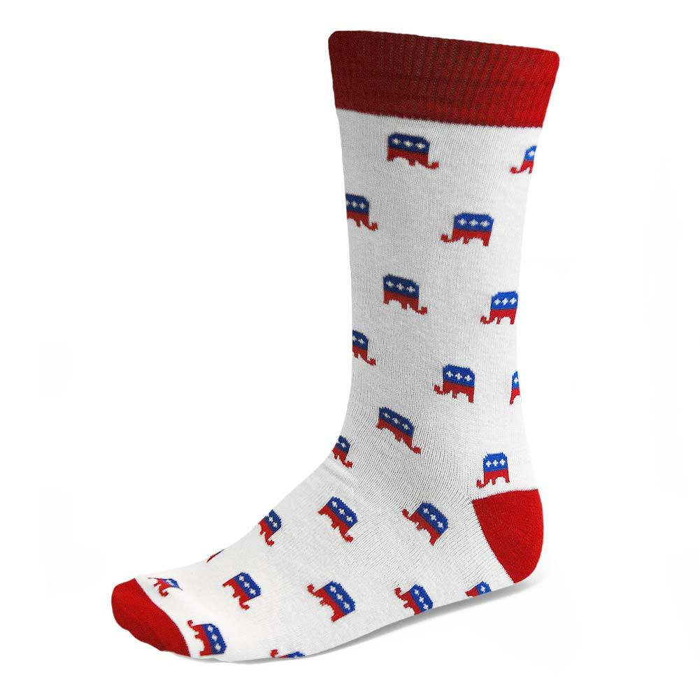 Republican Elephant Parquet Men's Crew Socks