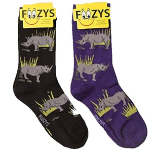 Rhinoceros Foozys Womens Crew Socks