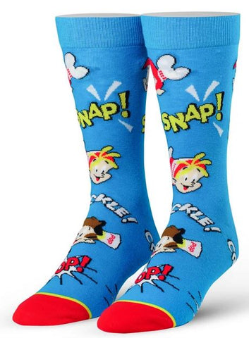 Rice Krispies Snap Crackle Pop Men's Crew Cool Socks