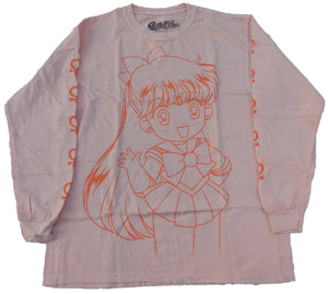 Sailor Moon Long Sleeve Peach T-Shirt