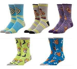 BioWorld Scooby Doo 5 Pair Pack Casual Crew Socks
