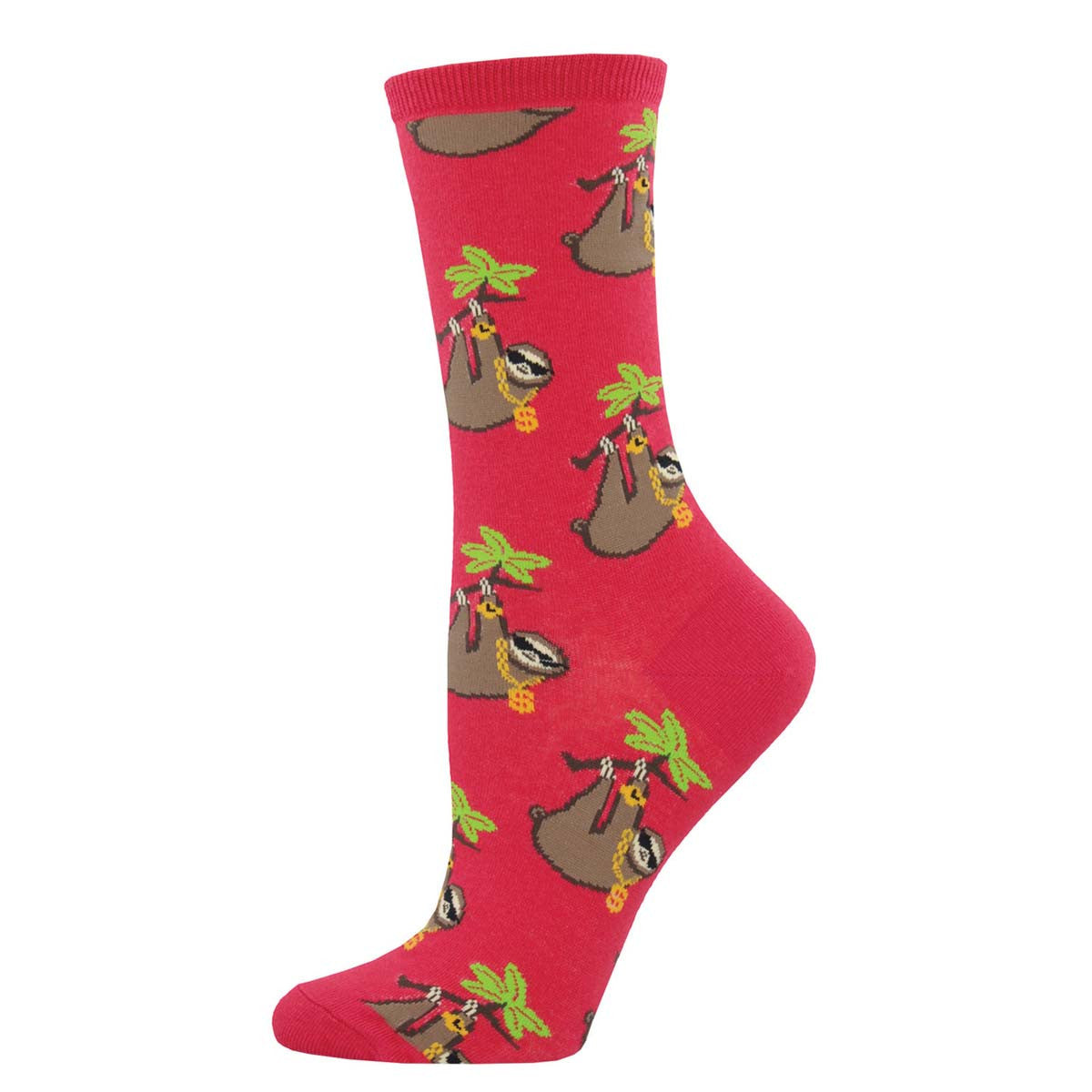 Sloth Bling SockSmith Womens Crew Socks