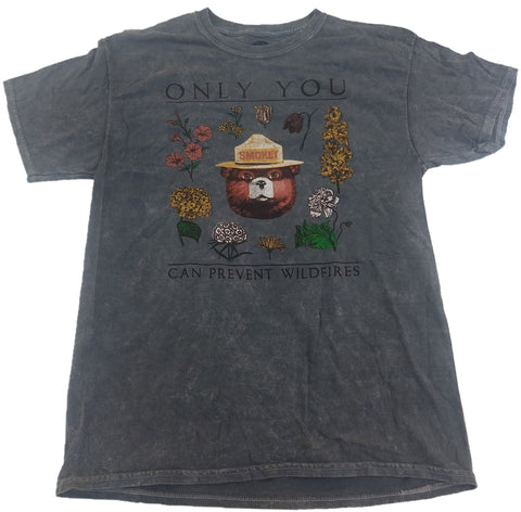 Smokey The Bear Only You Can Prevent Wildfires Mens T-Shirt