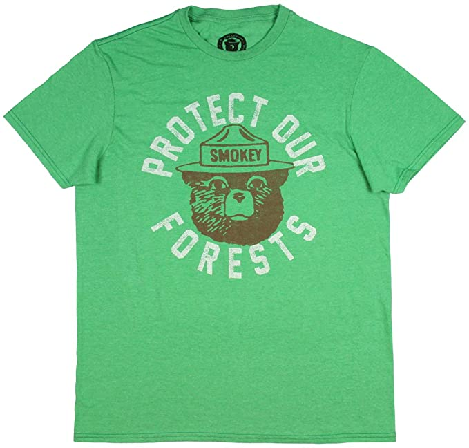 Protect Our Forests Smokey the Bear Mens T-Shirt
