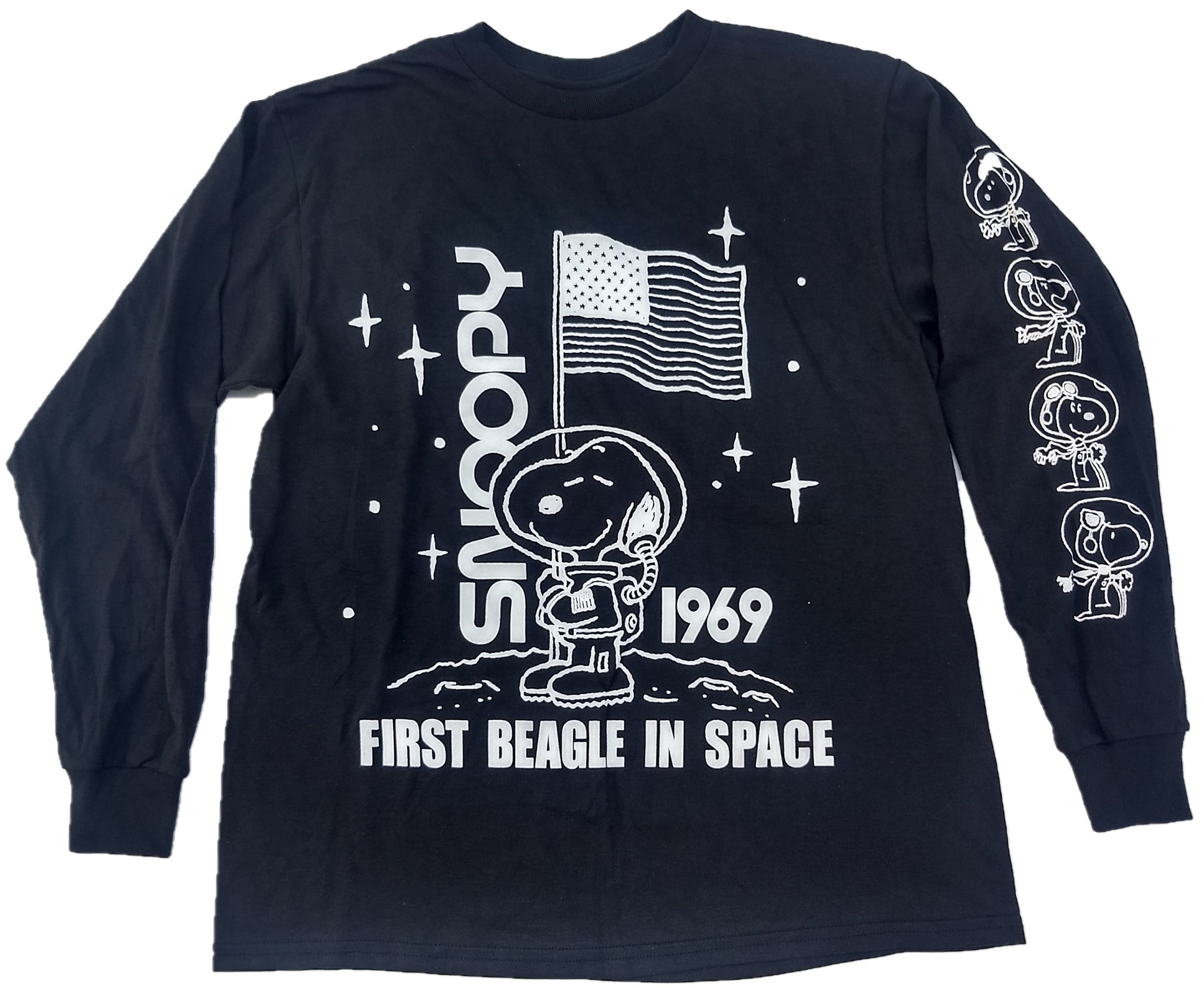 Snoopy First Beagle in Space 1969 Peanuts Mens T-Shirt