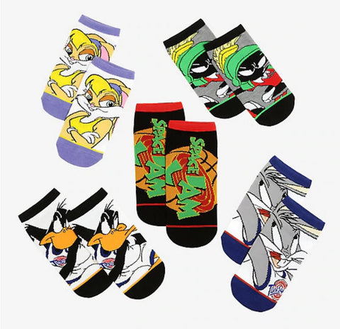 LOONEY TUNES SPACE JAM Ankle Socks 5 pack