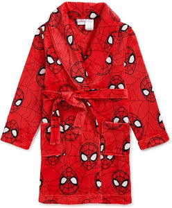 Spiderman Spider-Man Boys Plush Pajama Robe Bathrobe Size 8