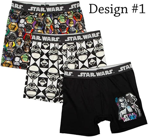 Star Wars Boxer Briefs Boys 3 Pack Action Underwear
