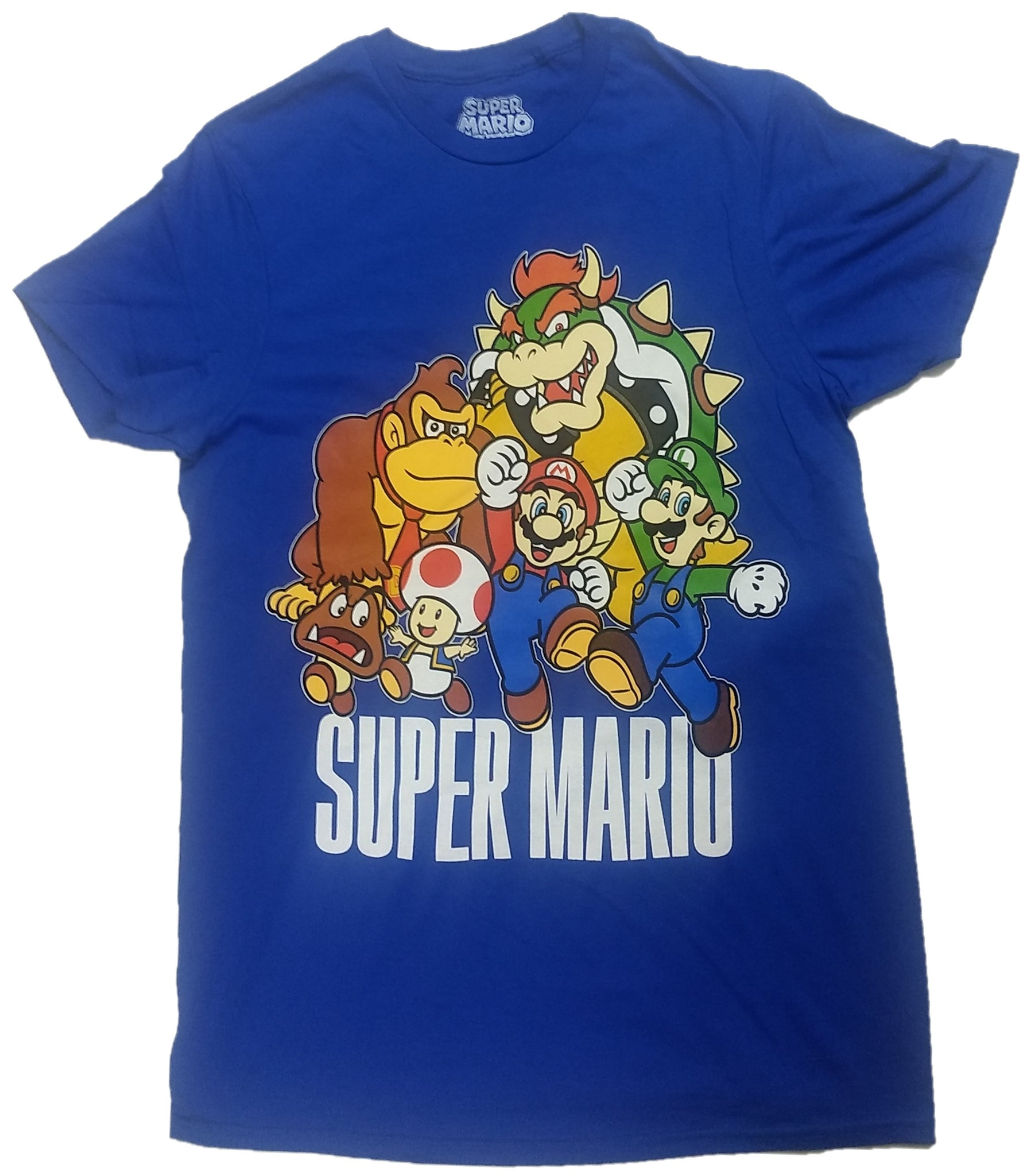 Super Mario Bros. Diddy Kong Bowser Luigi Toad Mens T-Shirt