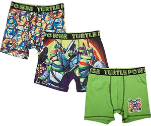 TMNT Teenage Mutant Ninja Turtles Boxer Briefs Boys 3 Pack Action Underwear