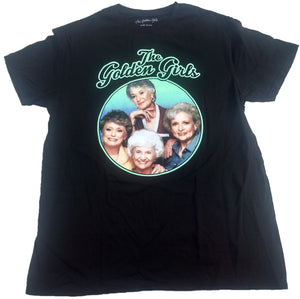 The Golden Girls Dorothy Rose Blanche Sophia Cast Photo Mens T-Shirt (Black)