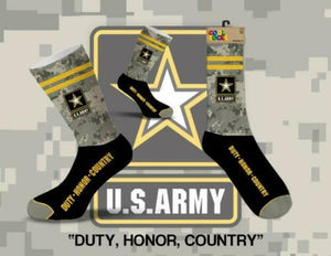 U.S. Army Duty Honor Country Men's Cool Socks Crew