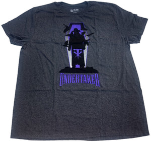 WWE Undertaker Crows Wrestling Mens T-Shirt (Charcoal Grey)
