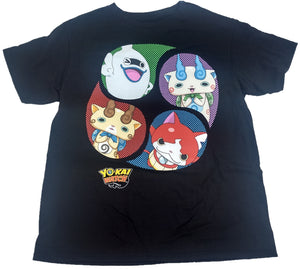 Yo-Kai Watch Anime Boys Tee T-Shirt Officially Licensed