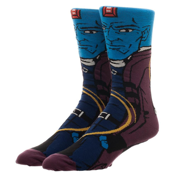 Yondu Marvel Guardians of the Galaxy 360° Degree Character Crew Socks