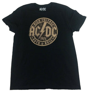 AC/DC ACDC High Voltage Rock And Roll 1976 Mens Black T-Shirt
