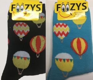 Hot Air Balloons Foozys Womens Crew Socks