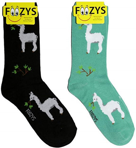 Alpacas Foozys Womens Crew Socks