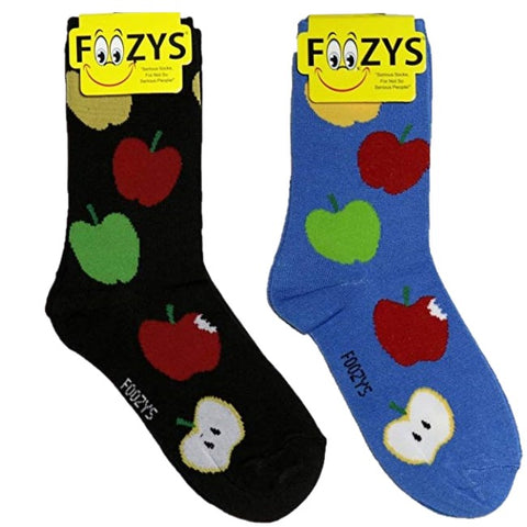 Apples Fruit Foozys Womens Crew Socks