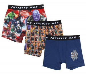 Avengers Infinity War DC Comics Boxer Briefs Boys 3 Pack Action Underwear