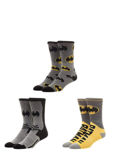 Bioworld DC Batman Athletic Socks (Pack of 3)